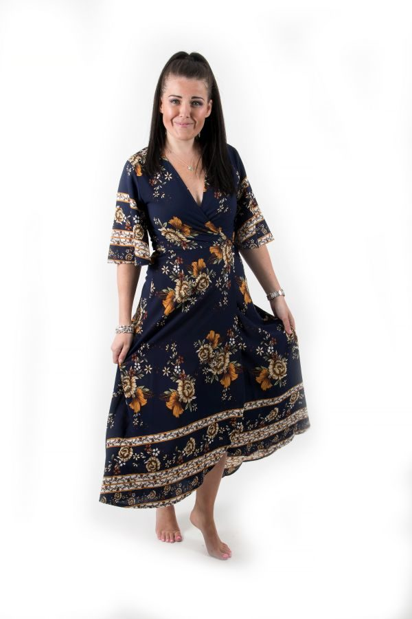 Mila Navy Floral Dress