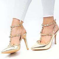gold and nude valentinos
