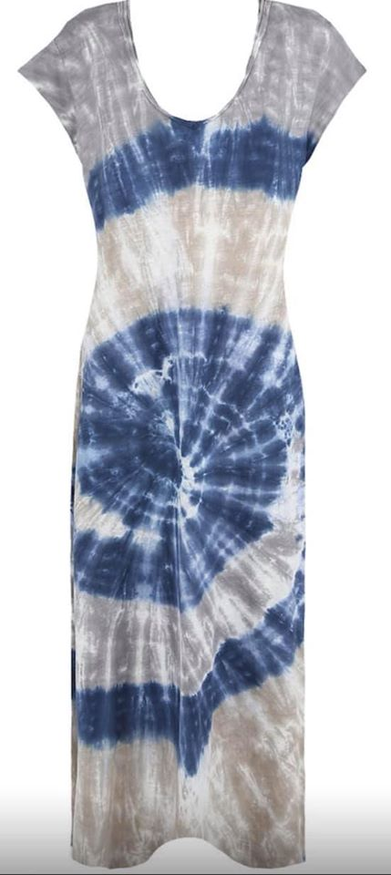 tie dye fromt dress